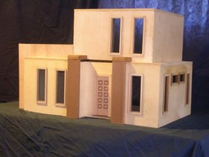 Contemporary or Adobe Dollhouse