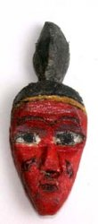 Carved Red Passport Mask from the Ivory Coast (replica)