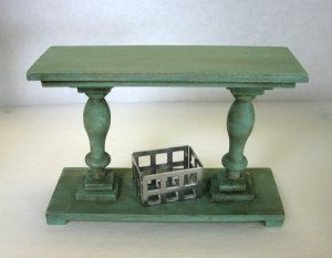 Farmhouse Console Table, Sage