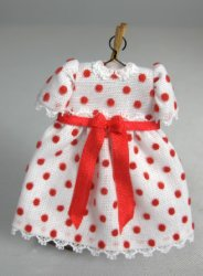 Toddler Dress, Red Polka Dots with Short Sleeves