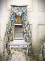 Half-Inch Scale Canopied Dressing Table or Desk