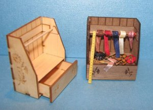 Engraved Sewing Cabinet and Shelf Kit