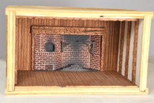 "1/4"" Scale Roombox with Braxton Payne Fireplace"