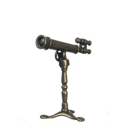 Antique Brass Telescope on STand