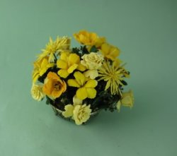 Mixed Yellow Flower Arrangement