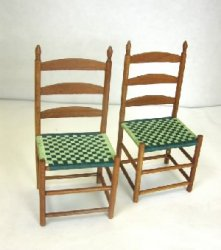 Pair of Shaker Chairs with Woven Seats