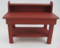 Painted Work Table, Red