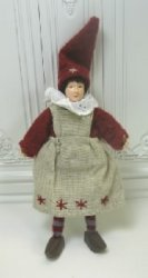 Gnome Woman In Linen Apron