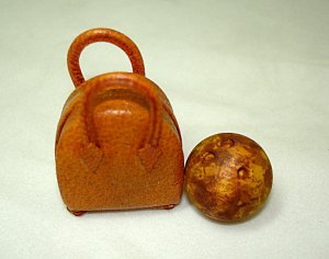 Bowling Ball and Bag, Brown