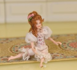 "1/2"" Scale Doll, Woman in Lingerie by Loretta Kasza"