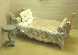 French Daybed in Ecru Silks