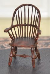 "1/2"" Walnut Windsor Chair by William Clinger"