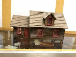 "1/4"" Scale Log Cabin, Furnished"