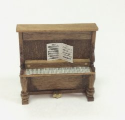 Quarter-Inch Scale Upright Piano by Sue Hoeltge