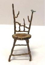 Metal Twig Chair with Bird