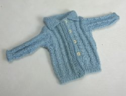 Hand-Knitted Blue Sweater