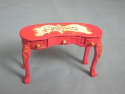 "1/2"" Scale Hand Painted Kidney Desk"