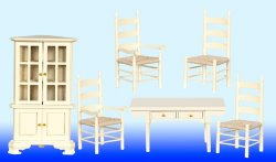 6-Pc. Dining Set, Cream