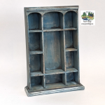 Triple Arch Shelving Unit, Blue-Gray