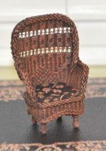 "1/2"" Scale Wicker Chair by IGMA Artisan Marjorie Meyer"