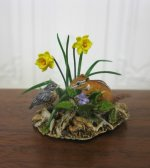 Bird and Chipmunk with Daffodils by Mary McGrath, IGMA Fellow