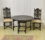 Reminiscence Jacobean or Tudor Gate-Leg Table & Two Chairs