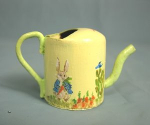 Peter Rabbit Watering Can, Hand Painted