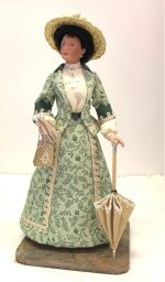 """Walking Costume"" Porcelain Doll"