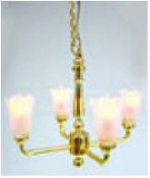 4-Arm Tulip Chandelier, Battery Operated
