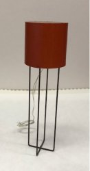 """Astra"" Floor Lamp with Red Shade"