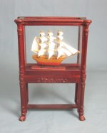 Model Ship in Mahogany Case