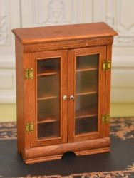 "1/2"" Scale Two Door Cabinet Signed ""PY"" or ""RY"""
