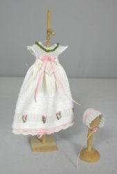 Little Girl's Gown and Bonnet