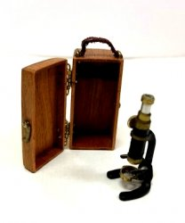 Microscope in Cherry Wood Case by Nantasy Fantast