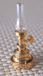 Battery Operated LED Brass Hurricane Lamp