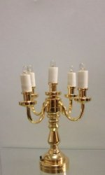 5-Arm Candelabra, Battery Operated