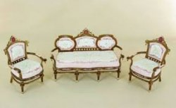 Edwardian Princess Parlor Set, 3 Pieces