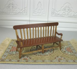 "1/2"" Scale Shaker-Style Cherry Bench"