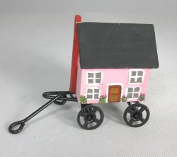 Pink Dollhouse Cart