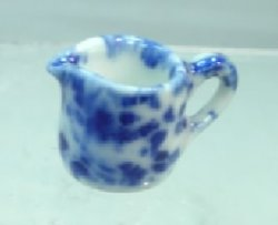 Blue and White Ceramic Pitcher