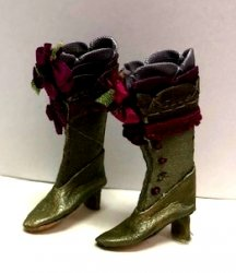 Fancy Victorian Boots, Green