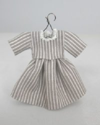 Grey and White Striped Toddler Dress