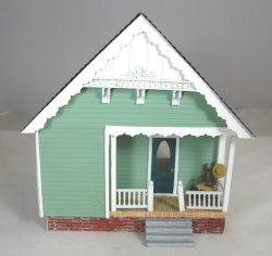 "1/4"" Scale House by Sue Hoeltge, semi-furnished"