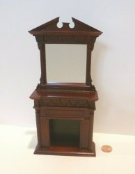 Cheltenham Over-mantel Fireplace, Mahogany - SALE
