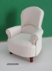 Half-Inch Scale Padded Tub Chair