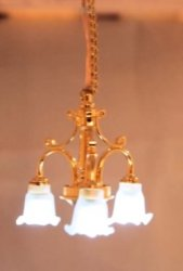 """Dumbo"" (don't ask me!) Battery Operated Brass Ceiling Lamp"