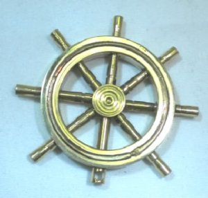 Brass and Copper Ship's Wheel