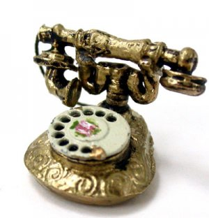 Fancy Brass Telephone