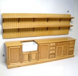 Kitchen Wall Unit, Maple