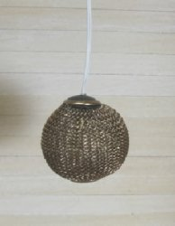 Working Modern Metal Mesh Ceiling Light, Bronze